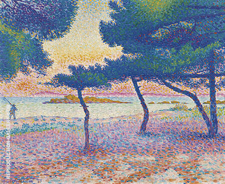 La Plage de Saint Clair By Henri Edmond Cross