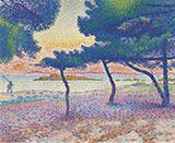 La Plage de Saint Clair By Henri Edmond Cross