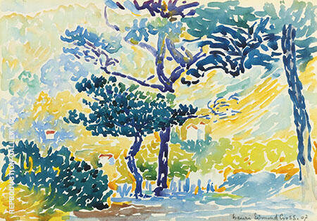 Paysage Provencal By Henri Edmond Cross