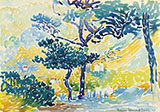 Paysage Provencal By Henri Edmond Cross