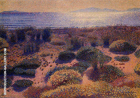 Plage De La vignassa By Henri Edmond Cross