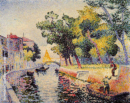 Reproduction of Ponte San Trovaso by Henri Edmond Cross | Oil Painting Replica On CanvasReproduction Gallery