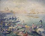 Regattain Venice By Henri Edmond Cross
