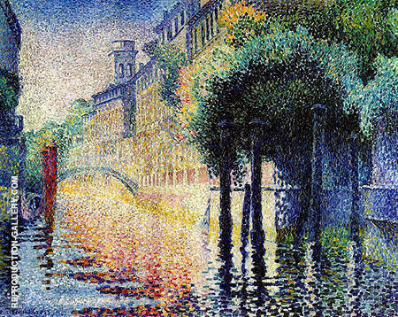 Rio San Trovaso Venice By Henri Edmond Cross