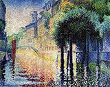 Rio San Trovaso Venice By Henri Edmond Cross