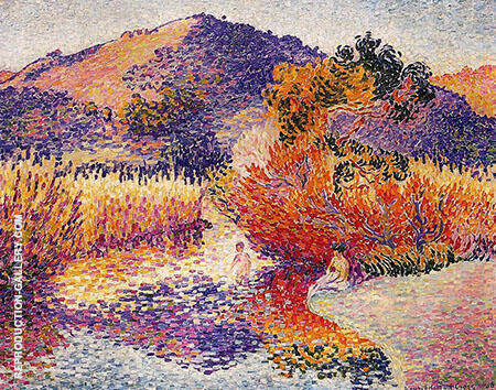 River in Saint Clair By Henri Edmond Cross - Oil Paintings & Art Reproductions - Reproduction Gallery