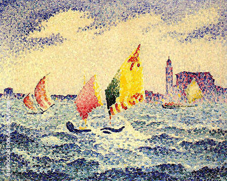 Sailboats Near Chicago By Henri Edmond Cross