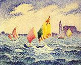 Sailboats Near Chicago By Henri Edmond Cross