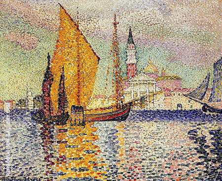 San Giorgio Maggiore Venice By Henri Edmond Cross - Oil Paintings & Art Reproductions - Reproduction Gallery