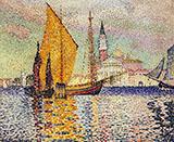 San Giorgio Maggiore Venice By Henri Edmond Cross