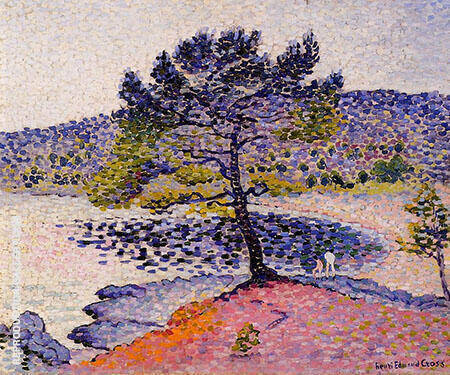 The Beach Evening By Henri Edmond Cross - Oil Paintings & Art Reproductions - Reproduction Gallery