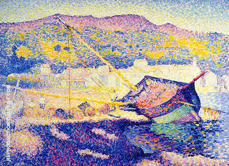 The Blue Boat By Henri Edmond Cross - Oil Paintings & Art Reproductions - Reproduction Gallery