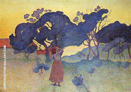 The Farm Evening By Henri Edmond Cross