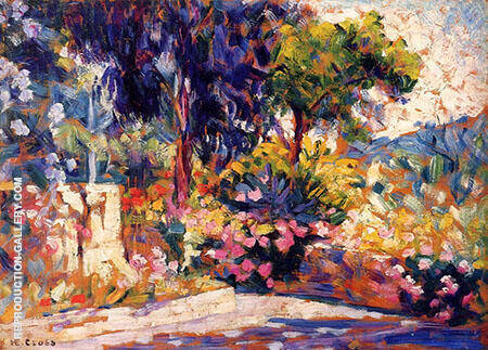 The Flowered Terrace By Henri Edmond Cross