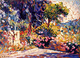 The Flowered Terrace By Henri Edmond Cross