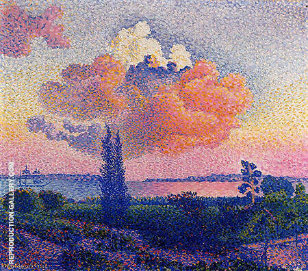 The Pink Cloud Painting By Henri Edmond Cross - Reproduction Gallery