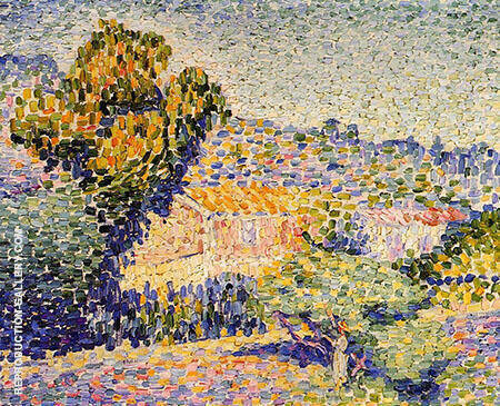 The Pink House By Henri Edmond Cross