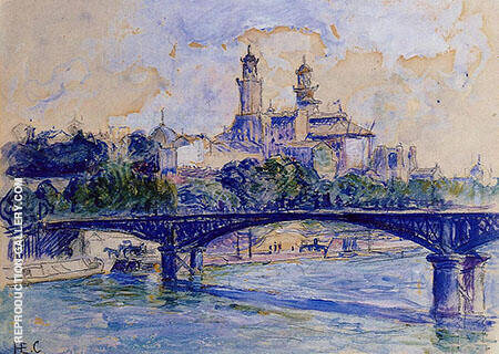 The Seine by the Trocadero Painting By Henri Edmond Cross