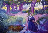 The Washerwoman By Henri Edmond Cross