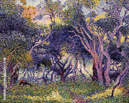 Undergrowth By Henri Edmond Cross - Oil Paintings & Art Reproductions - Reproduction Gallery