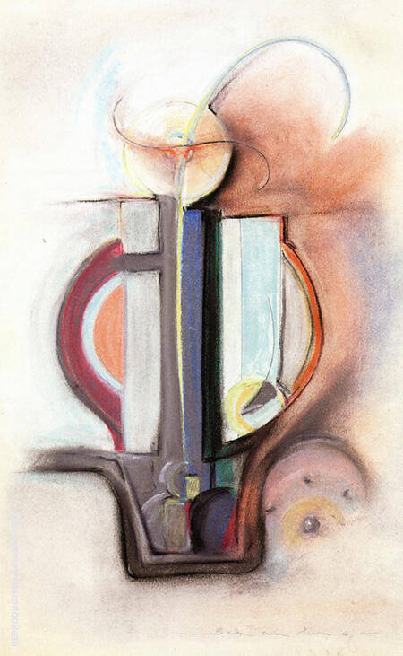 Drawing Pastel 1916 By Morton Livingston Schamberg