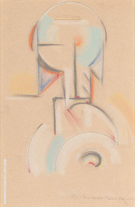 Abstraction c1916 By Morton Livingston Schamberg
