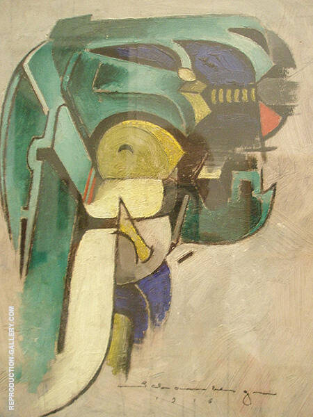 Painting IV Mechanical Abstraction 1916 By Morton Livingston Schamberg - Oil Paintings & Art Reproductions - Reproduction Gallery