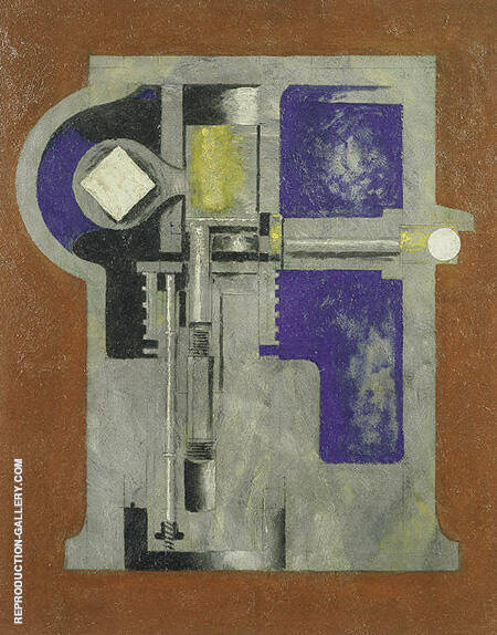 Untitled Mechanical Abstraction 1916 By Morton Livingston Schamberg - Oil Paintings & Art Reproductions - Reproduction Gallery