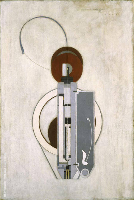 Painting VIII Mechanical Abstraction c1916 By Morton Livingston Schamberg - Oil Paintings & Art Reproductions - Reproduction Gallery