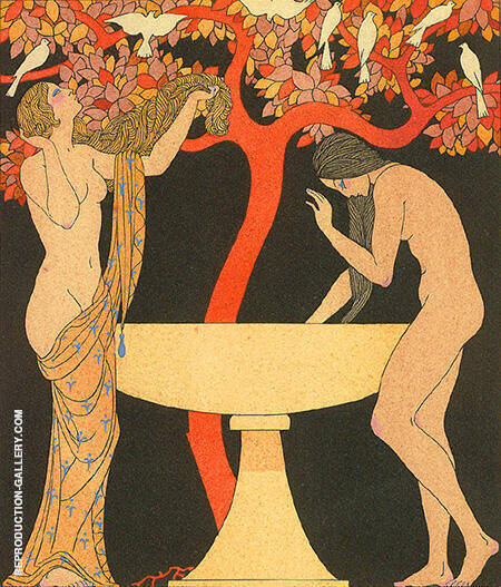 Untitled Pochoir From 1922 Painting By George Barbier