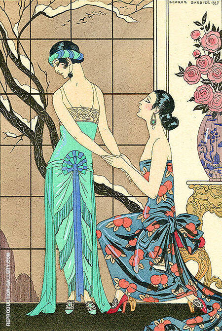 L'Aveu Difficile 1923 By George Barbier