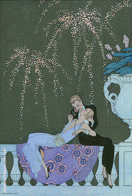 Le Feu 1925 By George Barbier