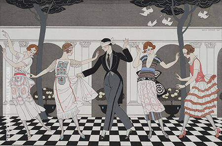 L'Amour Est Aveugle 1920 Painting By George Barbier - Reproduction Gallery