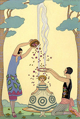 The Four Seasons 1925 By George Barbier