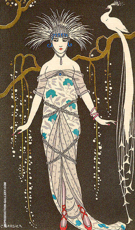 Costumes Parisiens 1914 By George Barbier - Oil Paintings & Art Reproductions - Reproduction Gallery