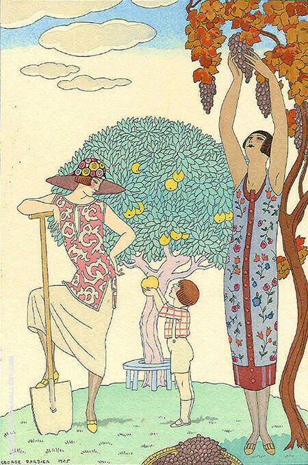 La Terre 1925 By George Barbier