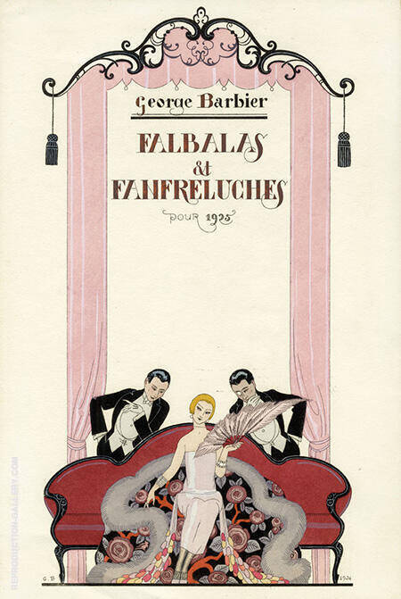 Pochoir Fashion Prints c1922-26 By George Barbier