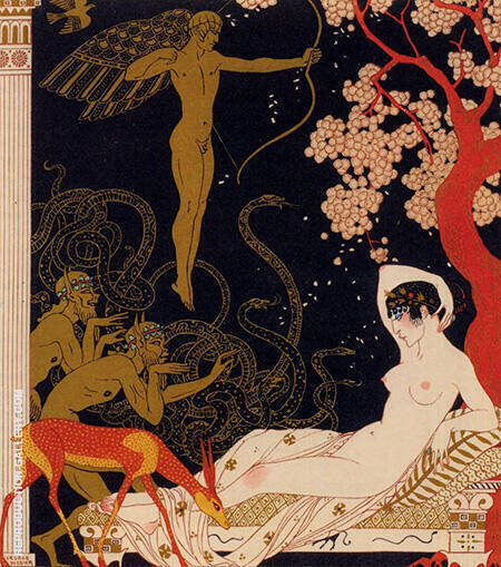 La Belle Helene 1922 Painting By George Barbier - Reproduction Gallery