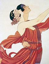 Alexander Sakharoff and Clotilde von Derp 1932 By George Barbier