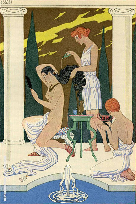 The Romance of Perfume 1928 By George Barbier