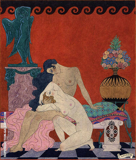 Les chansons de Bilitis By George Barbier - Oil Paintings & Art Reproductions - Reproduction Gallery