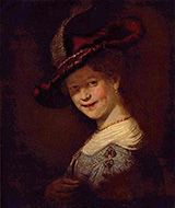 Bust of a Young Woman Smiling 1633 By Rembrandt Van Rijn