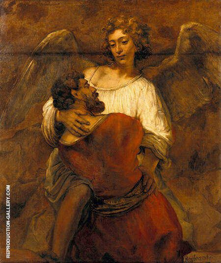 Jacob Wrestling with the Angel 1659 By Rembrandt Van Rijn - Oil Paintings & Art Reproductions - Reproduction Gallery