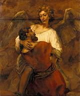 Jacob Wrestling with the Angel 1659 By Rembrandt Van Rijn