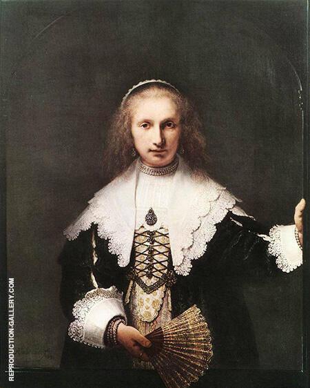 Portrait of Agatha Bas 1641 Painting By Rembrandt Van Rijn