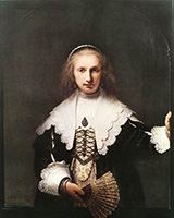 Portrait of Agatha Bas 1641 By Rembrandt Van Rijn