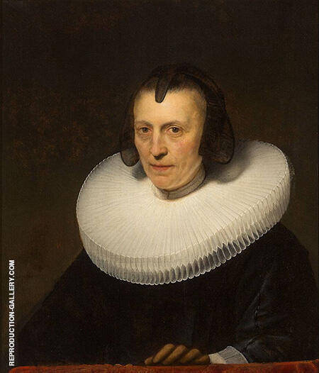 Reproduction of Portrait of Aletta Adraensdochter 1639 by Rembrandt Van Rijn | Oil Painting Replica On CanvasReproduction Gallery
