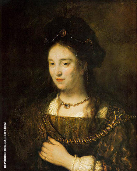 Reproduction of Saskia Van Uylenburgh 1643 by Rembrandt Van Rijn | Oil Painting Replica On CanvasReproduction Gallery