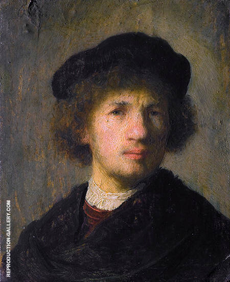 Self Portrait 1630 By Rembrandt Van Rijn