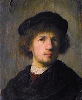 Self Portrait 1630 By Rembrandt Van Rijn